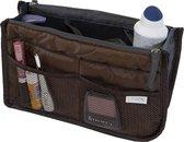 Bag in Bag Tas Organizer 11 vakken en ritssluiting - Bruin