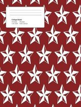 Christmas Stars Composition College Ruled Book (7.44 X 9.69) 200 Pages V7