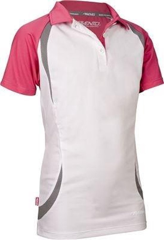 Avento Sportpolo Meisjes Wit/roze Maat 176