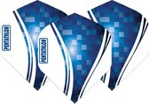 Pentathlon Wave - sterke flights - Blauw - Dragon darts - 1 Set (3 stuks) - darts flights
