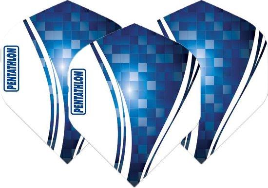 Pentathlon Wave - sterke flights - Blauw - Dragon darts - 1 Set (3 stuks) - darts flights