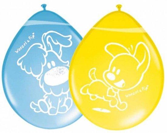 Woezel en Pip Ballonnen 30cm (8 stuks) geel blauw Feest Versiering v