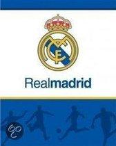 Real Madrid C.F. - Plaid - Katoen - 120 x 150 cm - Blauw
