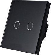 THORN Elektronische Touch DIMMER voor 2 lichtpunten met glasplaat zwart