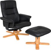 TecTake TV Fauteuil - Relaxstoel met Kruk