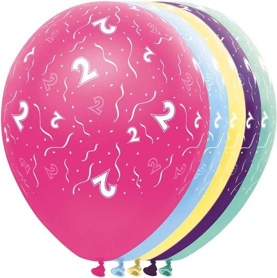 2 Jaar Feestballonnen - ballon - leeftijd - 5 stuks