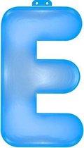 Opblaas letter E blauw