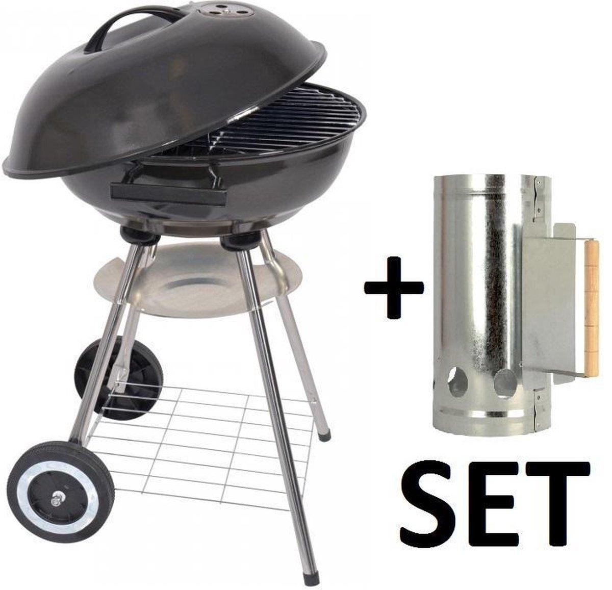 XL Houtskoolbarbecue - Ø 46 cm. + Brikettenstarter