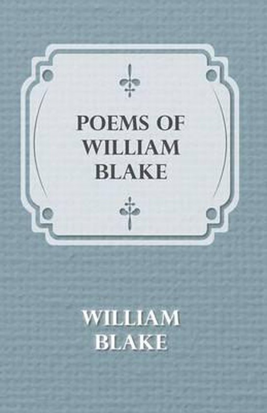 Boek cover Poems of William Blake van William Blake (Onbekend)
