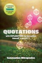 Boek cover Quotations van Constantine Mitropoulos