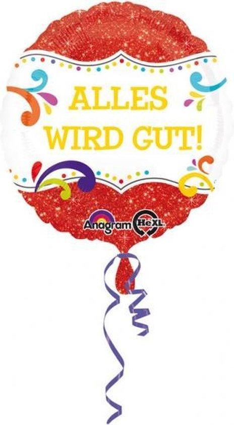 Anagram Folieballon Alles Wird Gut 43 Cm Rood/wit