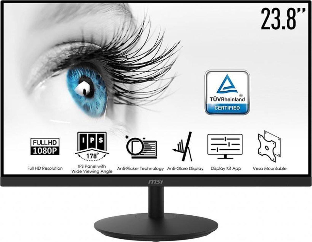 MSI Pro MP242 – Full HD IPS Monitor – 24 inch
