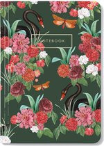 Wild Roses - Notitieboek - A5 formaat - Gelinieerde pagina's - Zachte Kaft  - Creative Lab Amsterdam