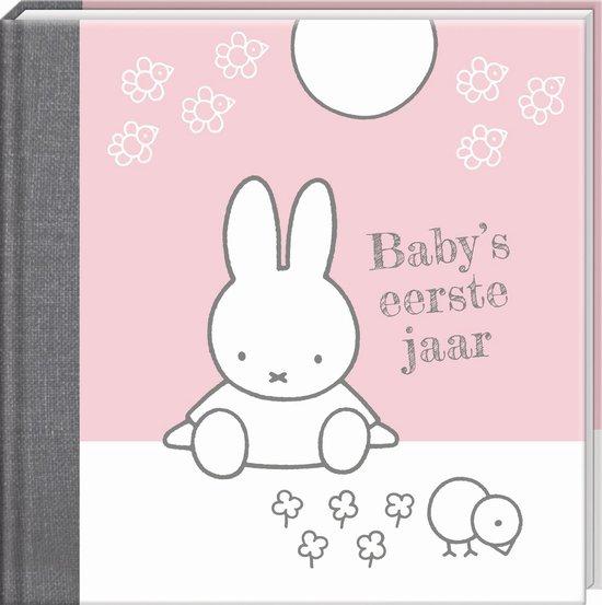 Boek cover Boek Baby eerste jaar Nijntje: roze (9%) (06113) van Niet van toepassing (Hardcover)