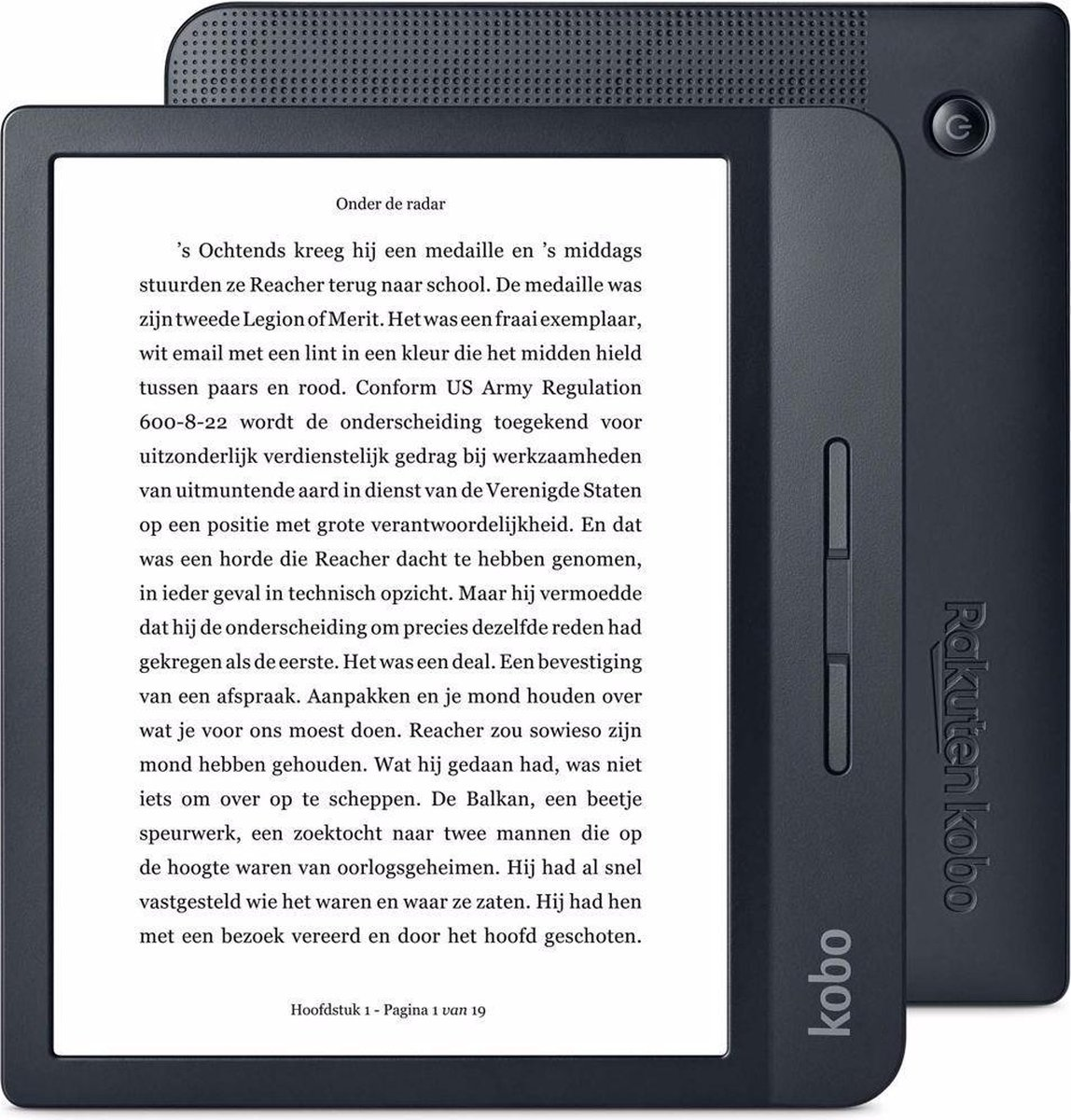 Kobo Libra H2O e-reader - Waterdicht - Grote 7 inch scherm - Instelbaar warme kleur - 8GB - Wifi - Z