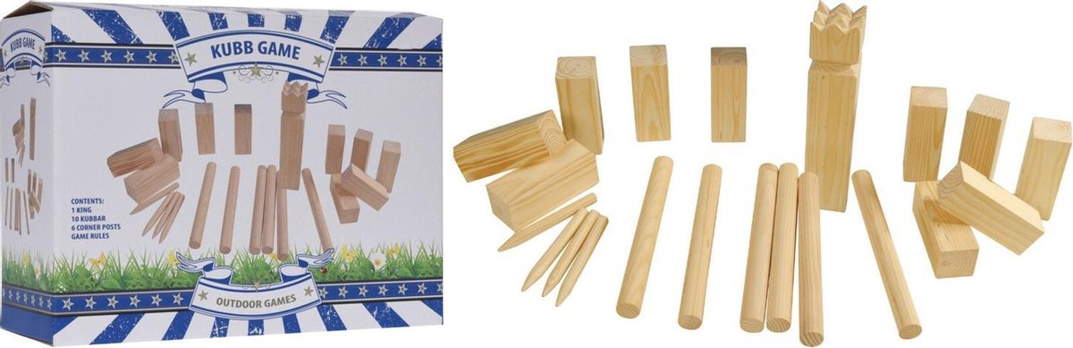 Free And Easy Kubb Outdoorspel 22-delig