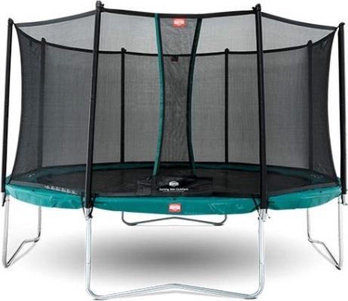 BERG Trampoline Favorit Regular Groen 380 cm rond + Safety Net Comfort