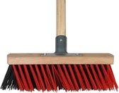 Talen Tools - X-bezem - Kunststof - 30 cm - Rood/zwart - Steel 140 cm - Compleet