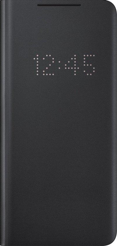 Samsung Smart LED View Antibacteriële Hoesje - Samsung S21 Ultra - Zwart