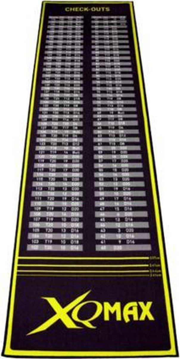Xq Max Dartmat Check-out 285 X 80 Cm Zwart/groen