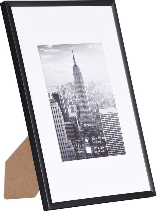 Fotolijst - Henzo - Manhattan - Fotomaat 21x30 cm - Zwart