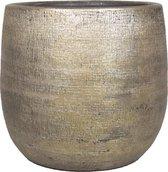 Luxe plantenpot/bloempot goud Mira van keramiek 24 cm - Keramische plantenpotten/plantenbakken