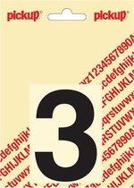 Pickup plakcijfer Helvetica 80 mm - zwart 3