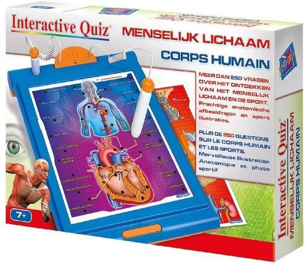 Clementoni Interactieve Quiz Menselijk Lichaam 7+