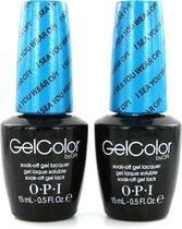 O.P.I GelColor Nagellak - I Sea You Wear OPI (2 stuks)