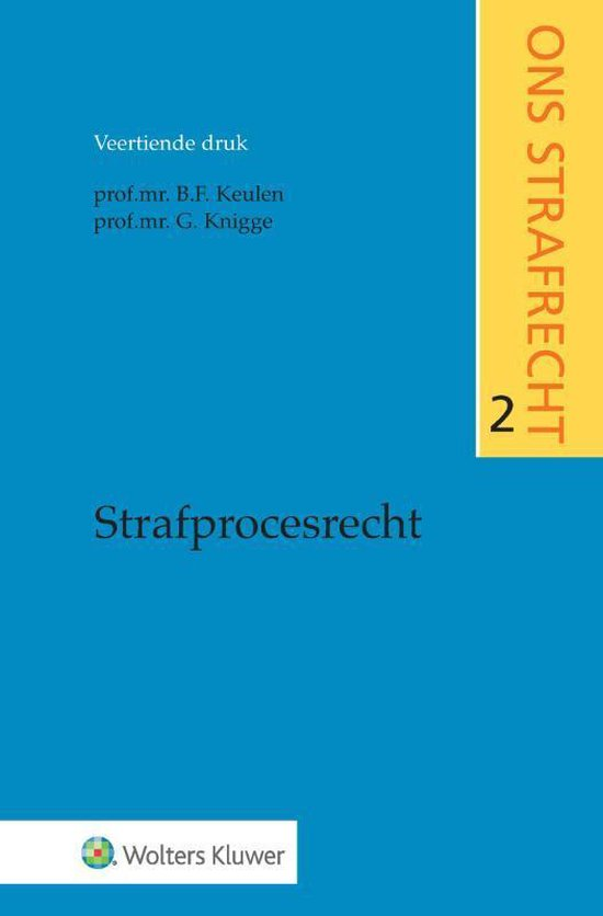 Boek cover Strafprocesrecht van B.F. Keulen (Paperback)