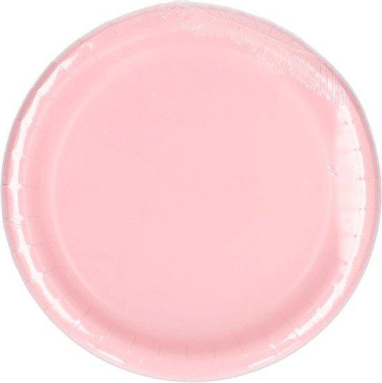 Lichtroze borden 23 cm