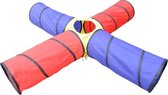 KnorrToys Speeltunnel Circle Tunnel Centre Blauw - Rood