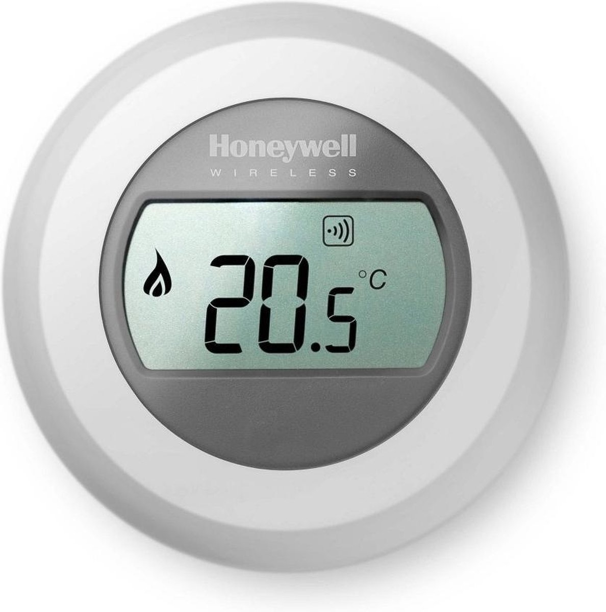 Honeywell Round Wireless - Draadloze aan/uit kamerthermostaat - Exclusief RF module