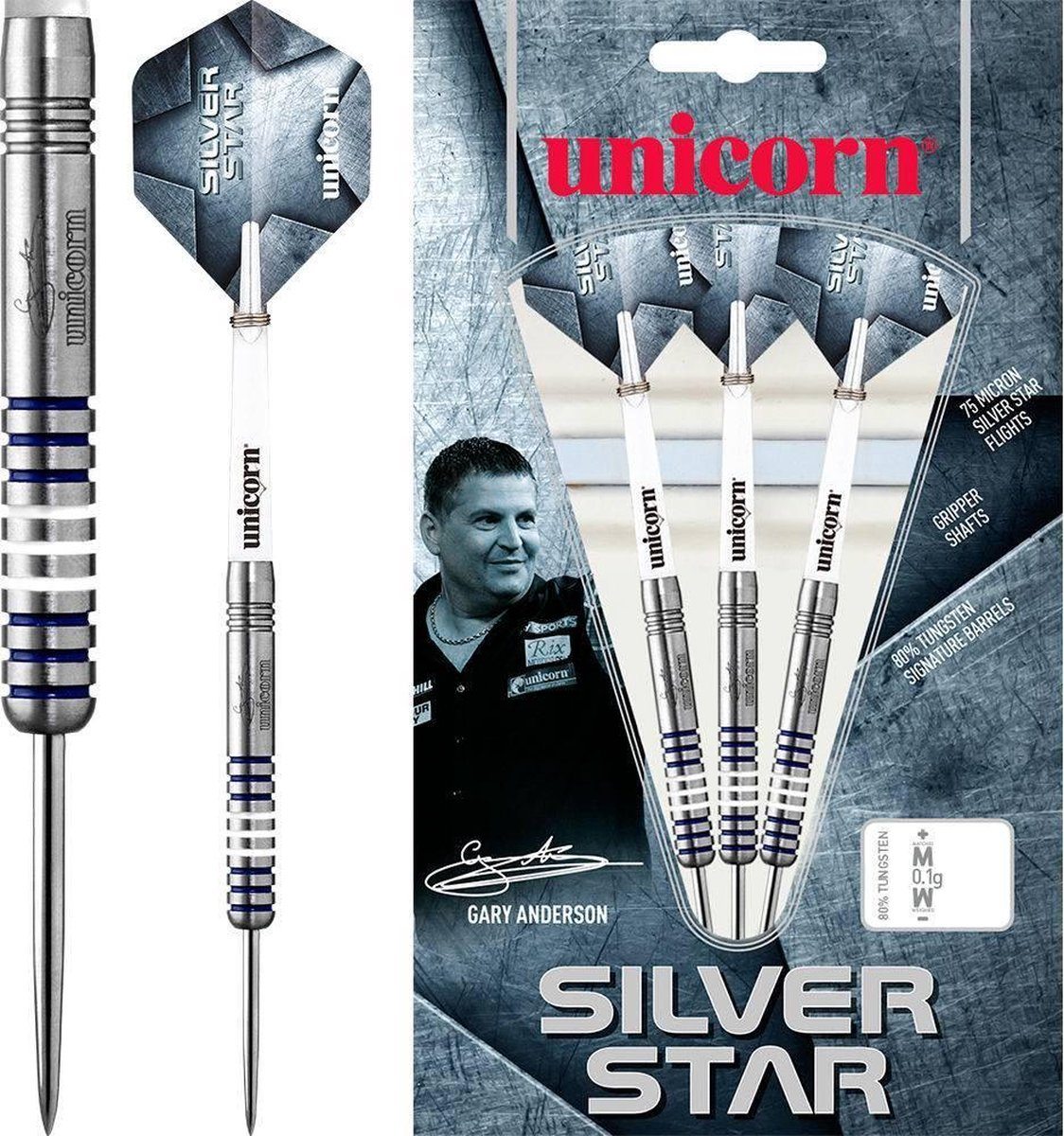 Unicorn Gary Anderson Silverstar 80% P1 - 23 Gram