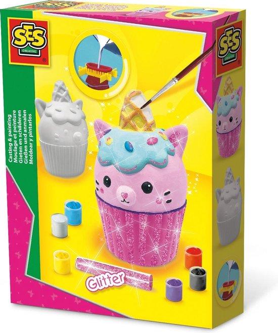 Gieten en schilderen – Cupcake kat
