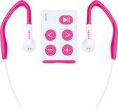 Lenco Xemio-154PK - Sport MP3-Speler Incl. sport oordopjes 4GB Micro SD-card - Roze