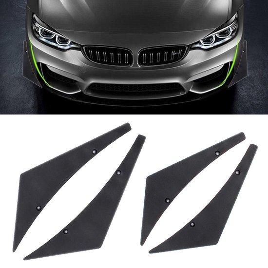 4 STUKS Auto-Styling Blade Decoratieve Sticker (zwart)