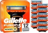 Gillette Fusion5 Power Scheermesjes Voor Mannen - 12 Navulmesjes