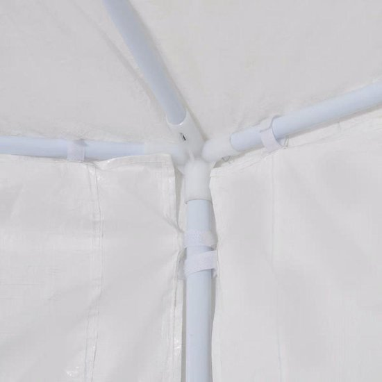 vidaXL Feesttent met 6 zijmuren wit 2x2 m