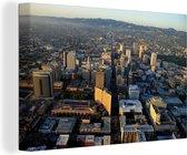 Luchtfoto van het Noord-Amerikaanse Oakland Canvas 120x80 cm - Foto print op Canvas schilderij (Wanddecoratie woonkamer / slaapkamer)