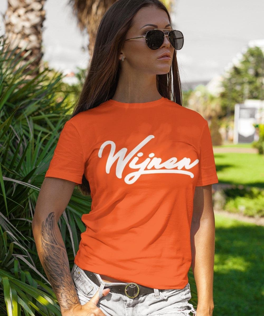 EK WK & Koningsdag T-Shirt Wijnen (DAMES - MAAT S)   Oranje Kleding   Feestkleding