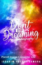 Omslag Don't Stop Dreaming
