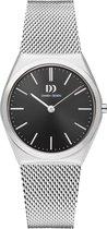 Danish Design horloge Tåsinge Black Silver Small Mesh IV63Q1236 - Silver - Analog