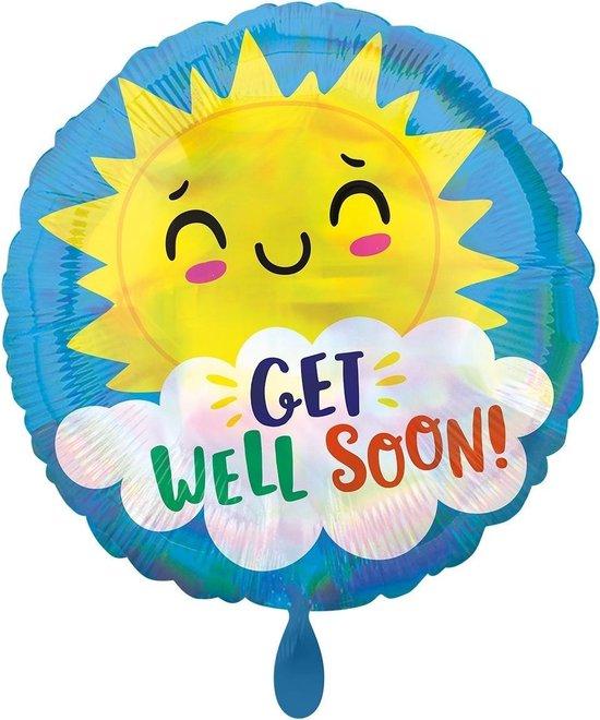Amscan Ballon Iridescent Get Well Happy Sun 43 Cm Folie