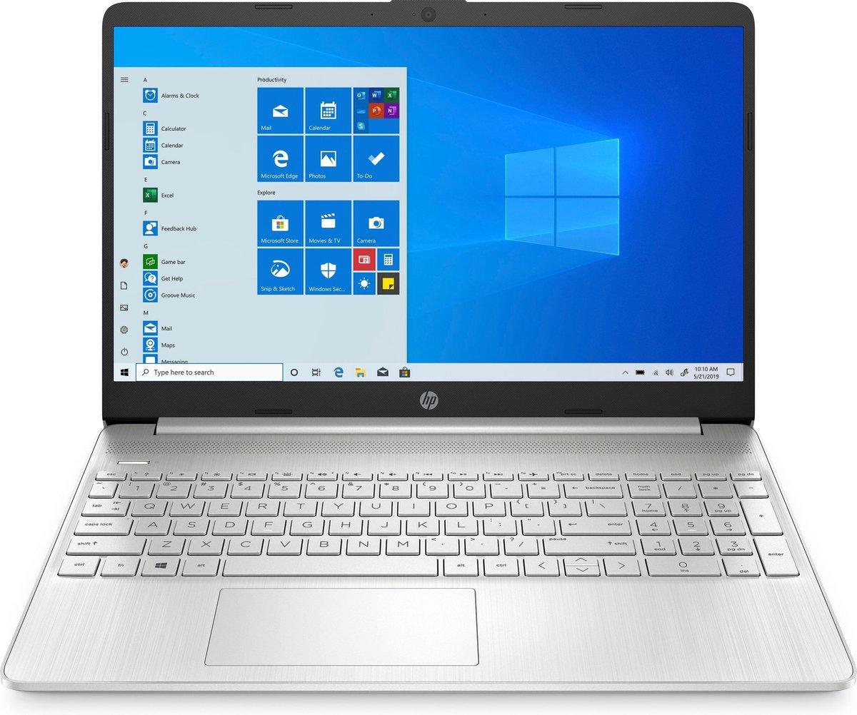 "HP 15s-eq2270nd - Laptop - 15.6"" IPS Full HD - AMD Ryzen 5 5500U / 2.1 GHz - 8 GB RAM - 512 GB SSD NVMe - AMD Radeon Graphics - Wi-Fi 5, Bluetooth - Windows 10 Home in S mode - zilver"
