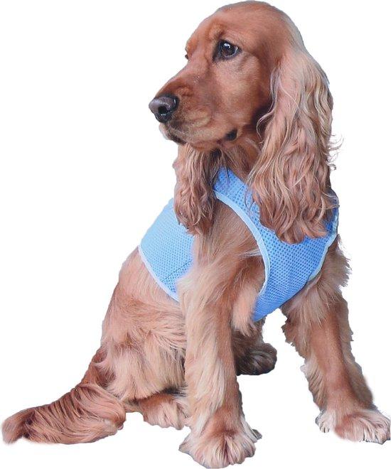 Honden Koelvest - Cool vest - PVA - blauw - Maat: M - Ø 66 cm