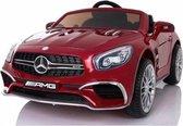 Mercedes-Benz SL65 AMG Elektrische Kinderauto - Rood - 2 Persoons Kinderauto - Afstand Bestuurbaar - Muziek Module - 12v - Kunst Lederen Stoelen - Rubberen banden