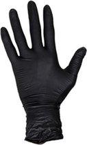 Wegwerphandschoenen nitril - poedervrij - zwart - maat M -100 stuks