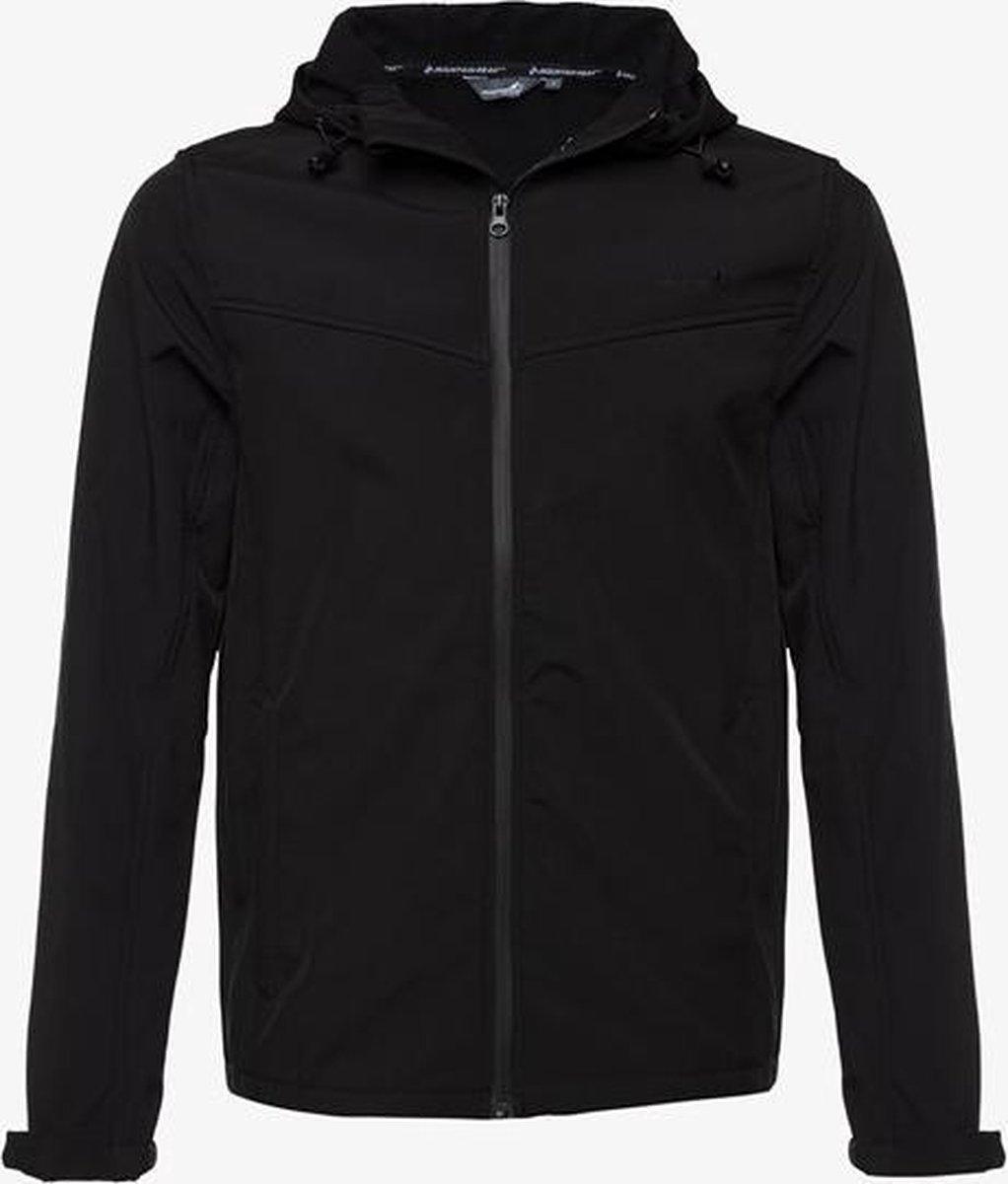 Mountain Peak heren outdoor softshell jas - Zwart - Maat L - Winddicht - Ademend materiaal
