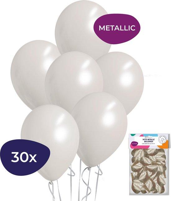 Witte Ballonnen – Metallic Ballonnen – Helium Ballonnen – Sweet 16 Versiering – Verjaardag Versiering – 30 stuks